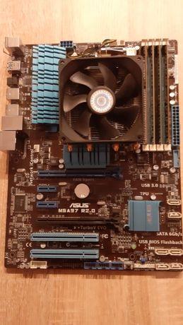 Asus M5A97 R2.0+AMD 8320+chłodzenie+pamięć RAM