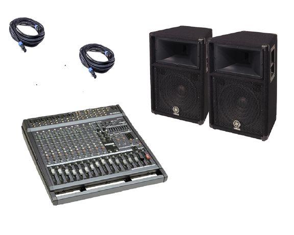 Звук YAMAHA для караоке 1000 Вт. Колонки
