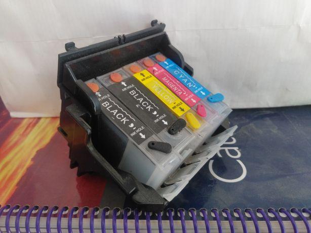 Перезаправляемые картриджи для Canon PIXMA iP4000 + чернила и промывка