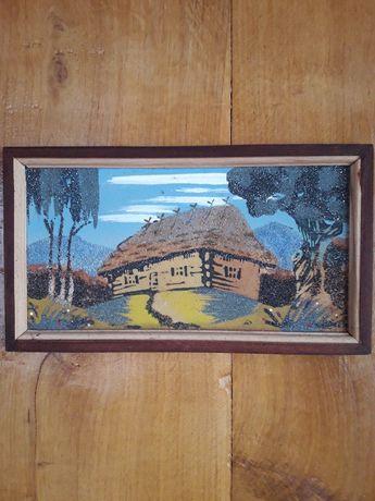 Декоративная картина «Сельская хата»
