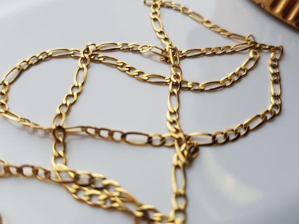 PIĘKNY złoty łańcuszek FIGARO pr.585 JEDYNY TAKI!