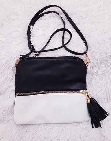 Nowa torebka czarno biała