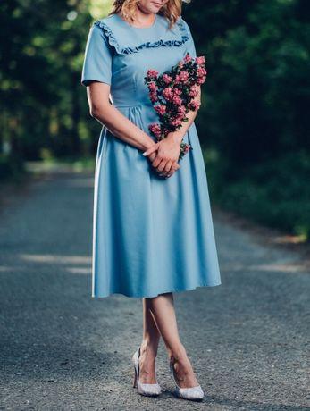 Nowa sukienka midi z metkami, rozm. L - LIKWIDACJA SKLEPU