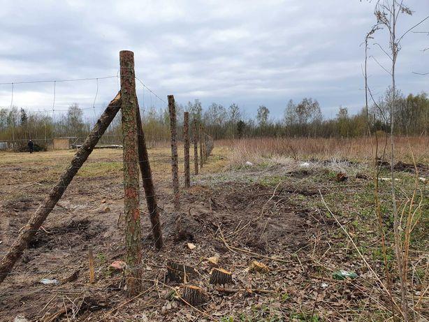 Ogrodzenie z siatki lesnej, płot na budowe, ogrodzenie tymczasowe