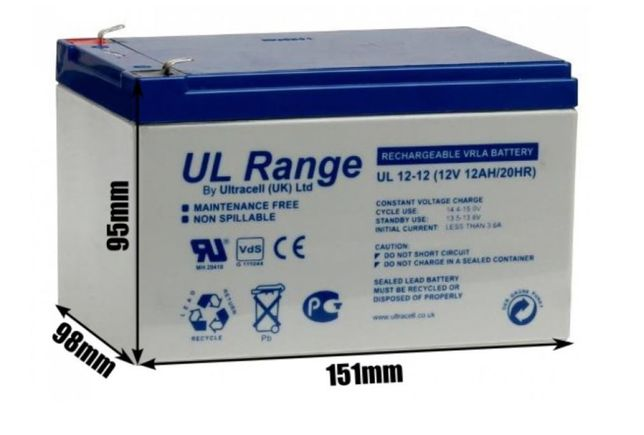 Akumulator Żelowy do zabawki dla dzieci ULTRACELL 12V 12Ah / 12000mAh