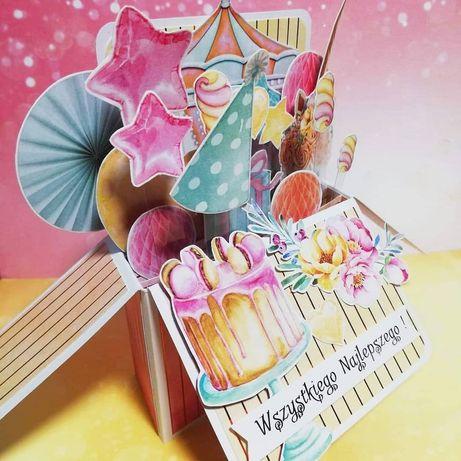 Kartka dla dziewczynki pop up, na urodziny