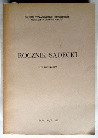 Rocznik Sądecki - Tom XII - Rok 1971