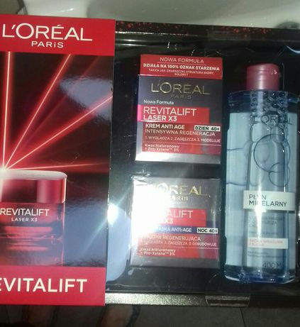 L'oreal Paris, Revitalift, zestaw kosmetyków, 3 szt. Nowy