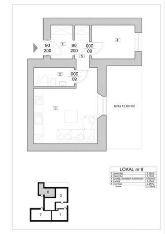 Sprzedam Mieszkanie Pabianice 31,29m2 stan deweloperski