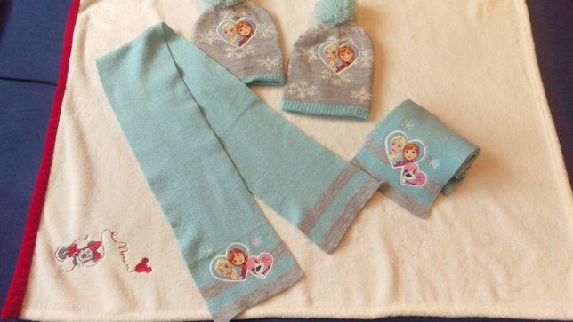 Elsa Komplet czapka + szalik blizniaczki