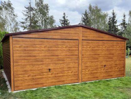 Garaż Blaszany Drewnopodobny 6x6 6x5 7x6 7x5 Garaże Wiata Na wymiar