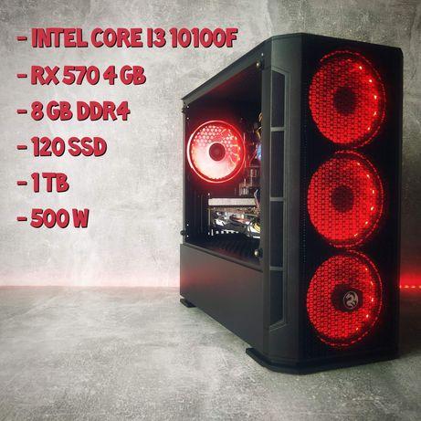 Ігровий пк ( і3 10100f/RX 570/8GB/120SSD/1TB)