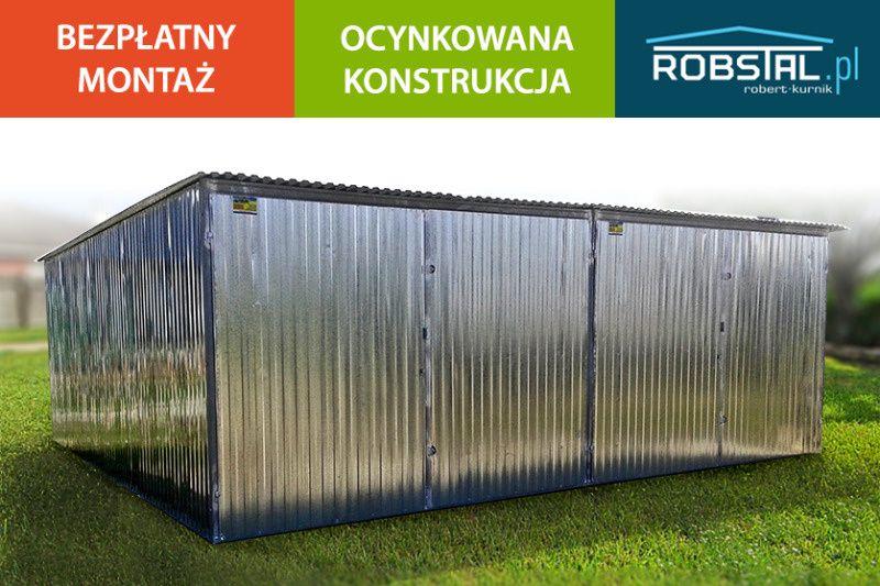 Garaż blaszany 6x5 garaże podwójne TRANSPORT I MONTAŻ GRATIS blaszaki Zambrów - image 1