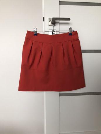 Pomarańczowa spódnica S 36