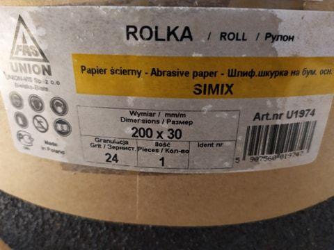 Rolka papier ścierny P24C 200mmx30m SIMIX