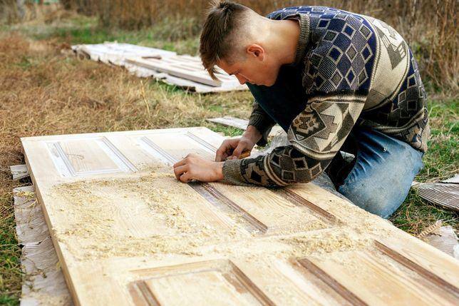 Полная и локальная реставрация, ремонт, восстановление дверей, мебели