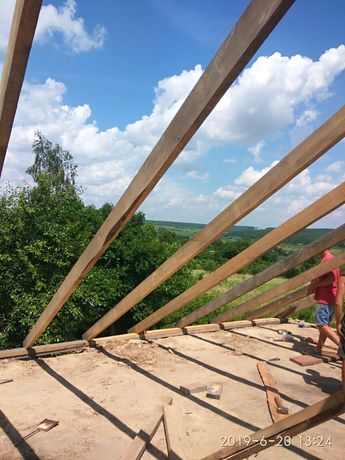 Будівництво, криша, дах, бетонні роботи, газоблок, стяжка