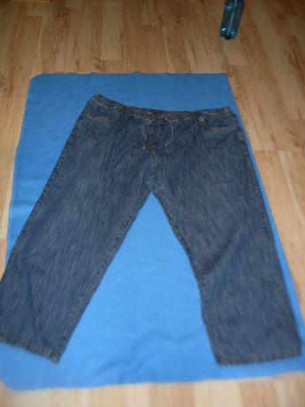 Dżinsy XXXXXL biodra 154 cm Szwecja gumka w pasie spodnie jeansy