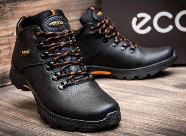 Зимние кожаные ботинки ecco 27см.