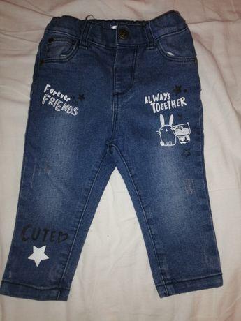 Spodnie dżinsowe dziewczęce