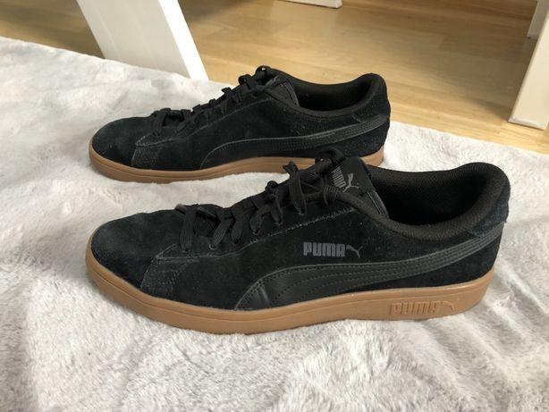 czarne buty puma gumowa podeszwa snickersy męskie rozmiar 44 28,5cm