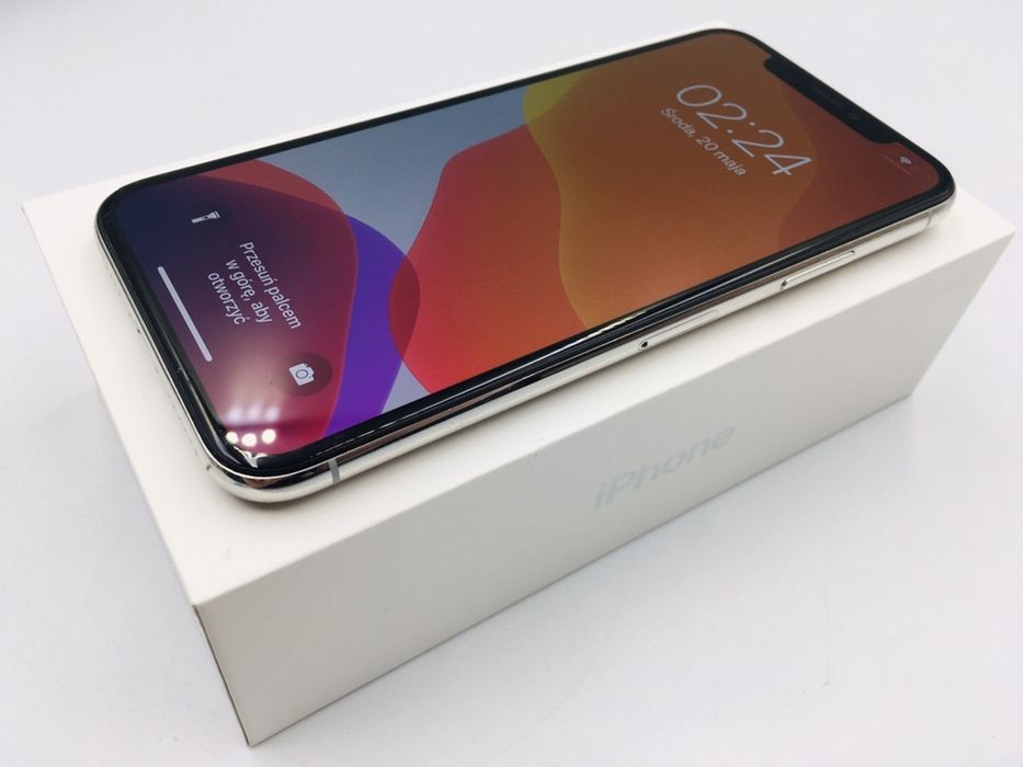 iPhone X 64GB SILVER • PROMOCJA • GWARANCJA 1 MSC • AppleCentrum Wrocław - image 1