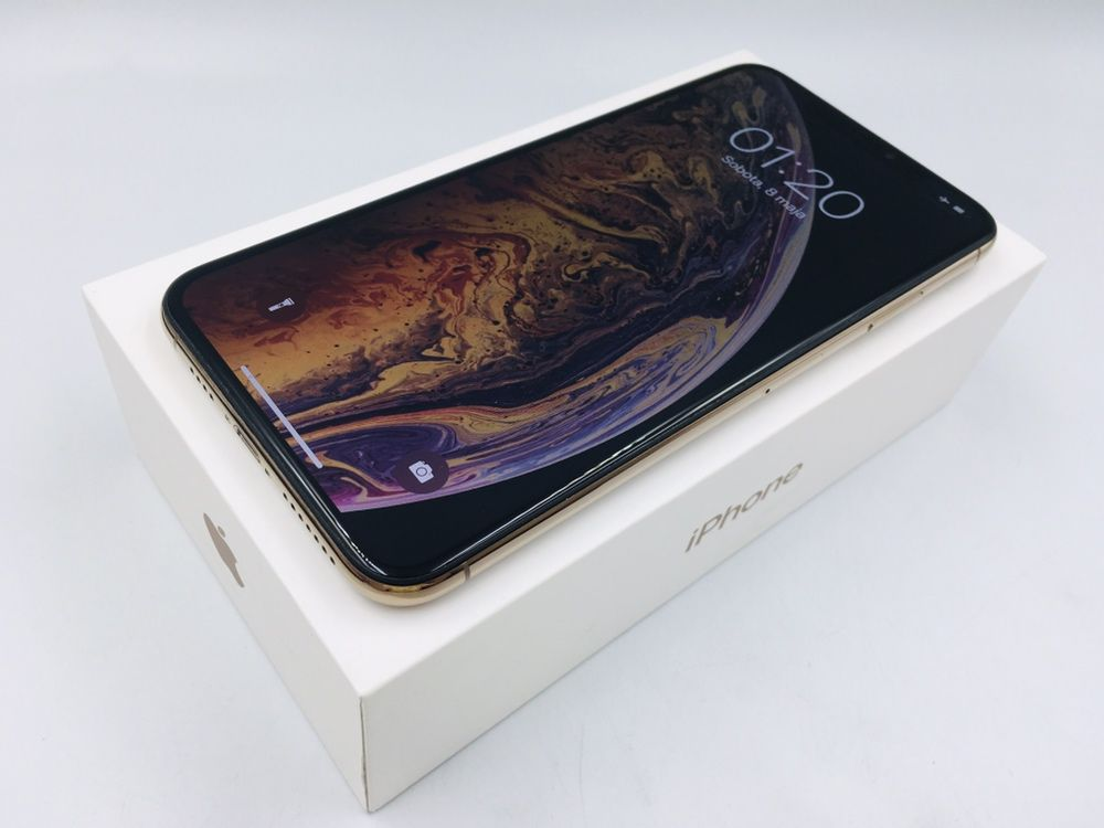 iPhone XS MAX 64GB GOLD • GW 12 msc • DARMOWA wysyłka •FAKTURA