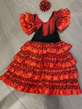 Strój, sukienka Hiszpanki ze spinką 5-7lat