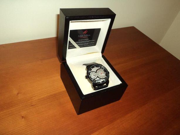 Relógio Louis Villiers 2 fusos horários