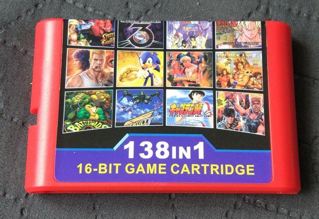 Картридж сборник игр Sega Mega Drive 16bit 16 бит Battletoads Contra
