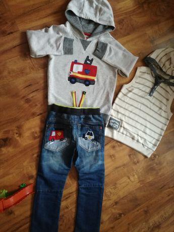 Bluza,spodnie,kamizelka