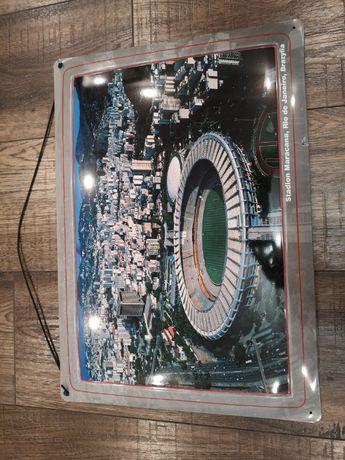 Szyld blaszany Stadion Maracana, Rio de Janerio  pilka nożna