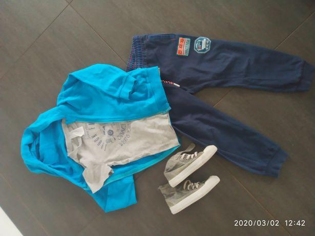 Zestaw komplet spodnie dresowe 51015 bluza koszulka c&a 110 trampki hm
