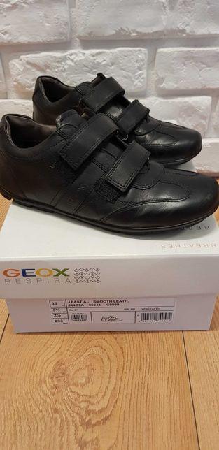 Buty geox skórzane na rzepy