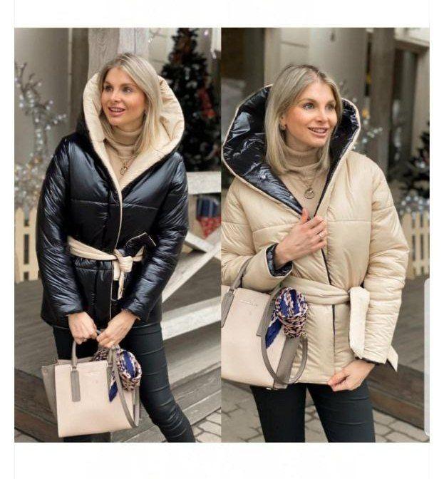 Куртка жіноча двостороння/пуховик жіночий/курточка женская Ровно - изображение 1
