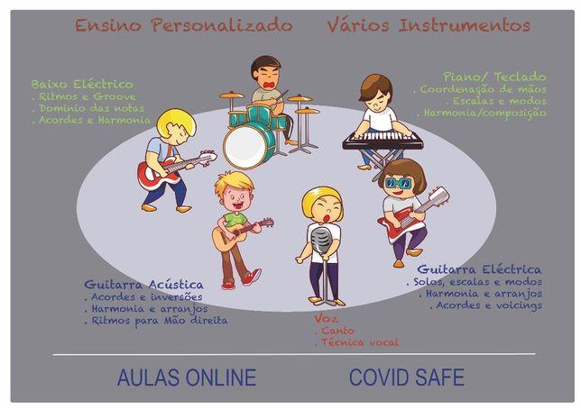 Aulas de Guitarra Online - COVID Safe!!