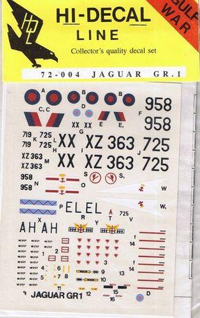 Jaguar GR.1 RAF 1/72 Kalkomania Hi-Decal