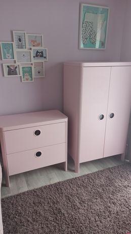 Meble dziecięce komplet Ikea Busunge różowe