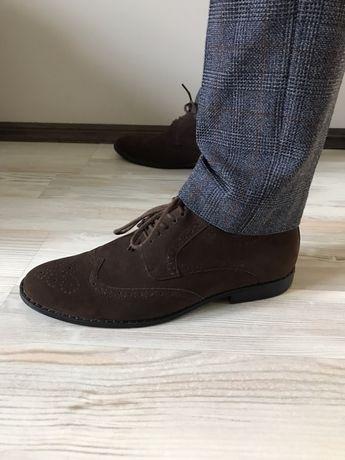 Туфлі оксфорди брогі, 41 розмір 26,5/27 см