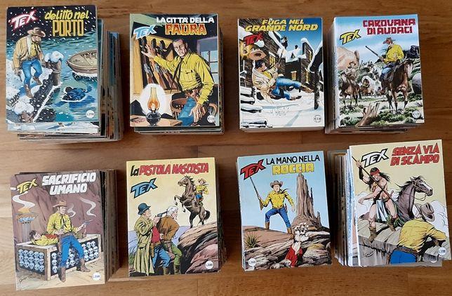 Lote Tex Willer, BD original em italiano. 135 álbuns da série regular