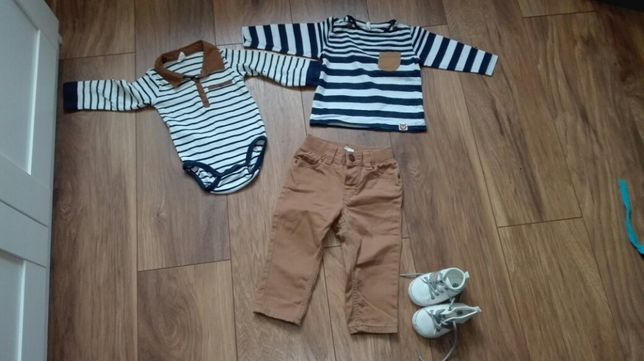 Komplet h&m body, bluzka, spodnie buciki