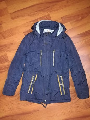 Детская куртка-парка для мальчика рост 134
