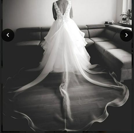 Suknia ślubna dopinany tren