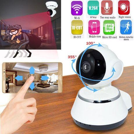 Camera Vigilância Wireless 720P APP p/ Android IOS Visao Noturna 360º