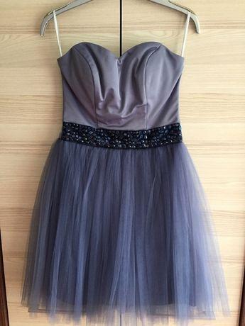 Gorsetowa sukienka z tiulem XS/S