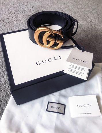 Czarny Pasek GG Gucci Marmont Lux Okazja Premium Warto