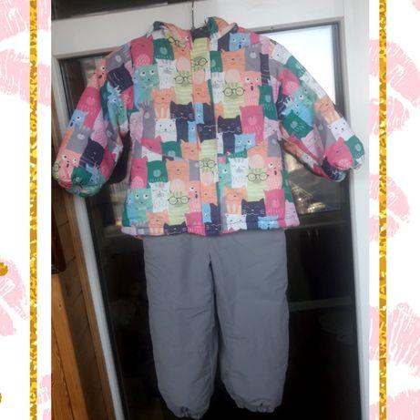 Осенний (демисезонный) детский термо комплект комбинезон+куртка 98 р.