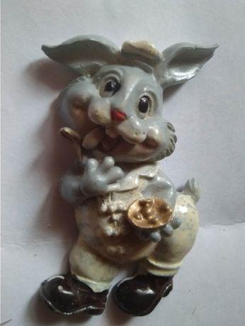 магнит на холодильник в коллекцию заяц зайчик сувенир кролик
