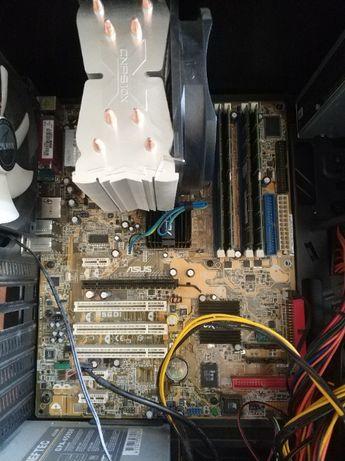 Материнская плата ASUS,процессор,кулер Intel,память 3 GB ,БП Chieftec
