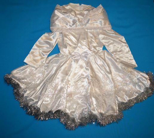 Новогоднее карнавальное платье Снежинка